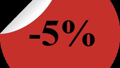 5% отстъпка за обем