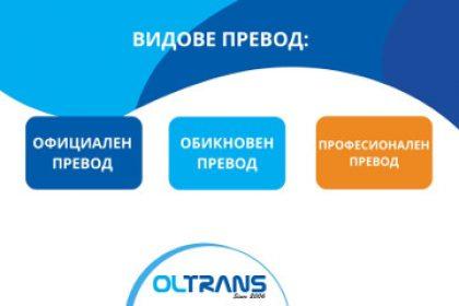 """Видове превод според агенция за преводи """"Олтранс"""""""