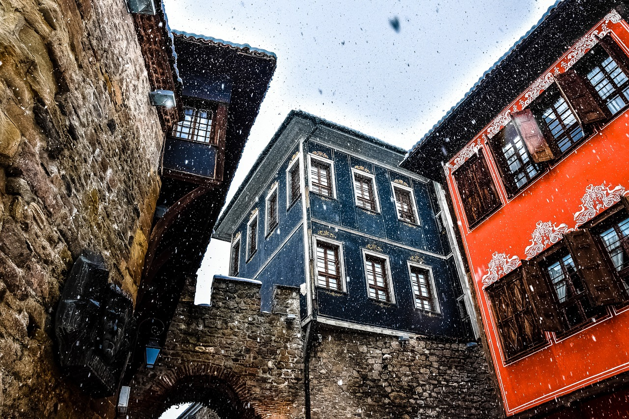 Old Town of Plovdiv during Winter